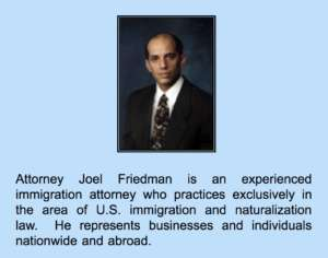 US Immigration Attorney Joel Friedman Lawyer